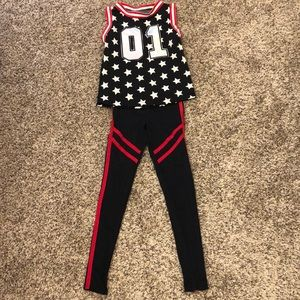 Weissman Hip hop basketball player dance outfit